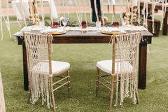 Macrame Chair Decor