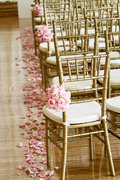 Gold Chiavari Chair + Padded Cushion