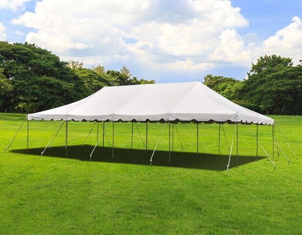 20 x 40 Commercial White Frame tent