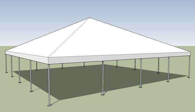 40 x 40 Commercial White Frame tent