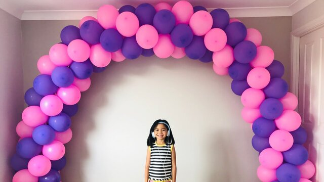 Balloon Arch Per Foot, Includes weighted Stands, Colors to match clients color theme (Charged per foot)