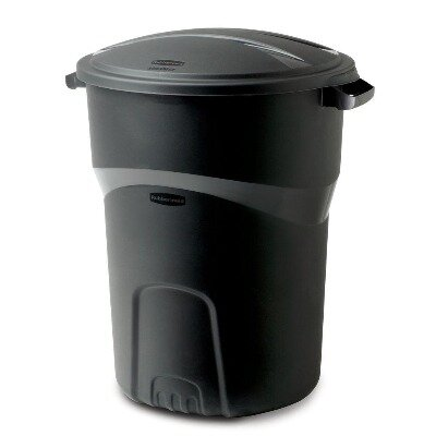 Black Trash Cans with Liners - Haul away service available for additional charge.