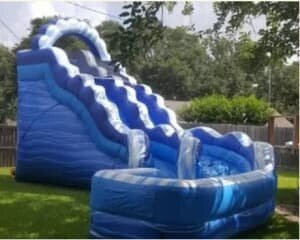 Blue Curve Water Slide