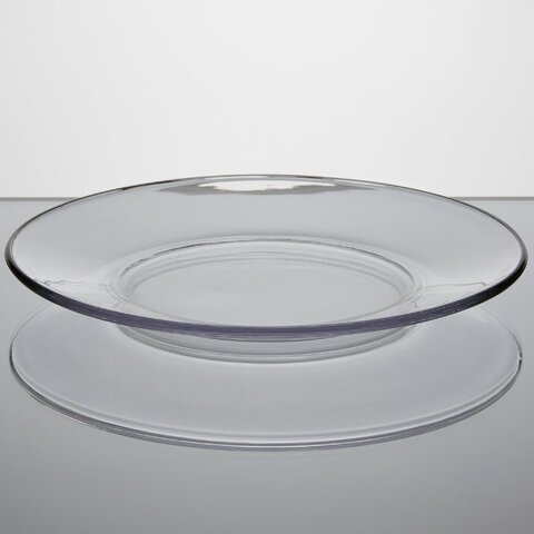 Clear Glass Dinner Plates - 10