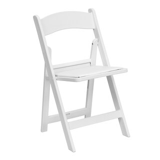 White Folding Chairs with Pad