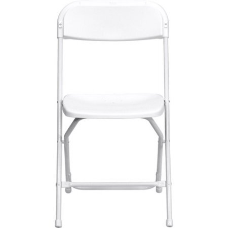 White Folding Chairs - Non Padded