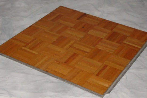 3ft. x3ft. Wood Parquet Dancefloor Pieces