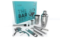 Bar Tool Kit - Bottle Openers, Wine Opener, Cutting Board, Shaker and Knife