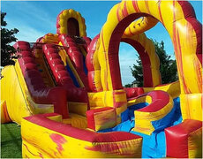 Giant Fire and Ice Water slide with Pool