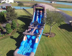 Giant Mountain Water Slide with Slip N Slide