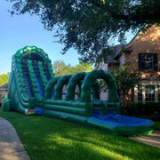 60 Ft. Long Hulk Dual Lane Slide with Slip n Slide