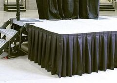 Stage Skirting - Black - Per Foot