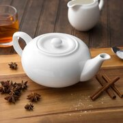 White Teapots with Lids