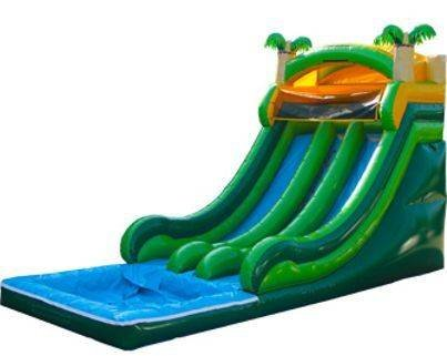 18ft Tropical Double Lane Slide