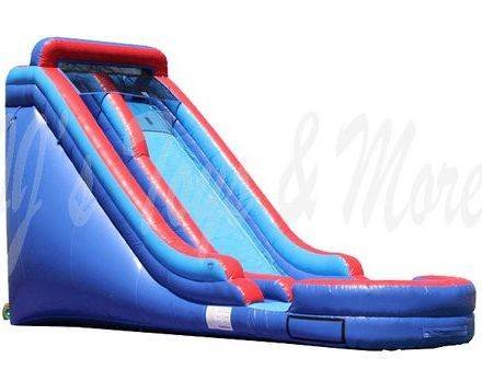 18ft Red and Blue Single Lane Slide