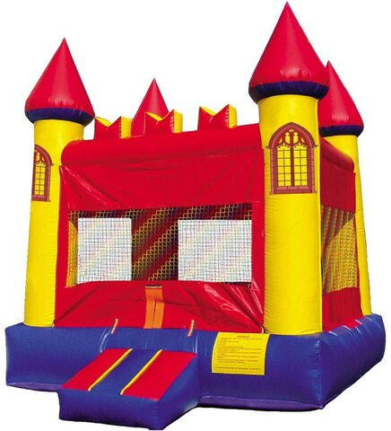 Red and Yellow Castle Bounce House