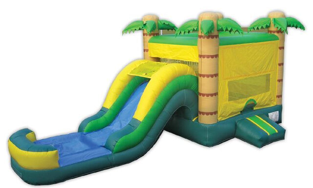 TROPICAL BOUNCE HOUSE COMBO WET
