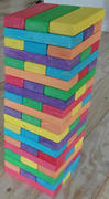 Giant Jenga Bright colours Picnic Party 45 Game