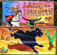 Lasso The LongHorn FRAME GAME