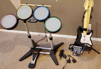 Additional game console c/w Monitor for Rock Band