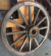 Antique Wagon Wheels Western Decor