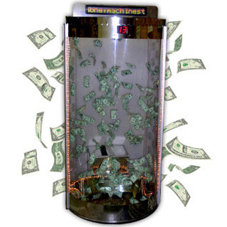 Money Tunnel Cyclone Cylinder-Cash Cube