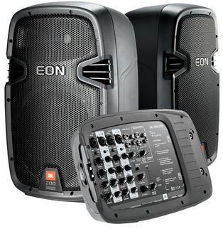 300 watt PA Speakers (2 Speakers) with Microphone and Stands