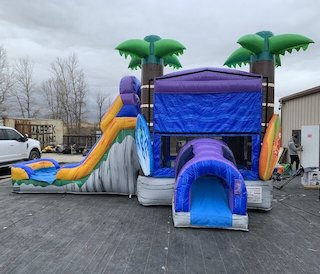 tropical bounce house slide rental