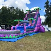 22ft Single lane purple water slide