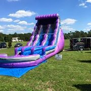 22ft Dual lane wave purple water slide