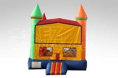 15x15 Yellow and green banner bounce house