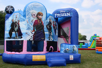 """Frozen"" themed combo bouncer"