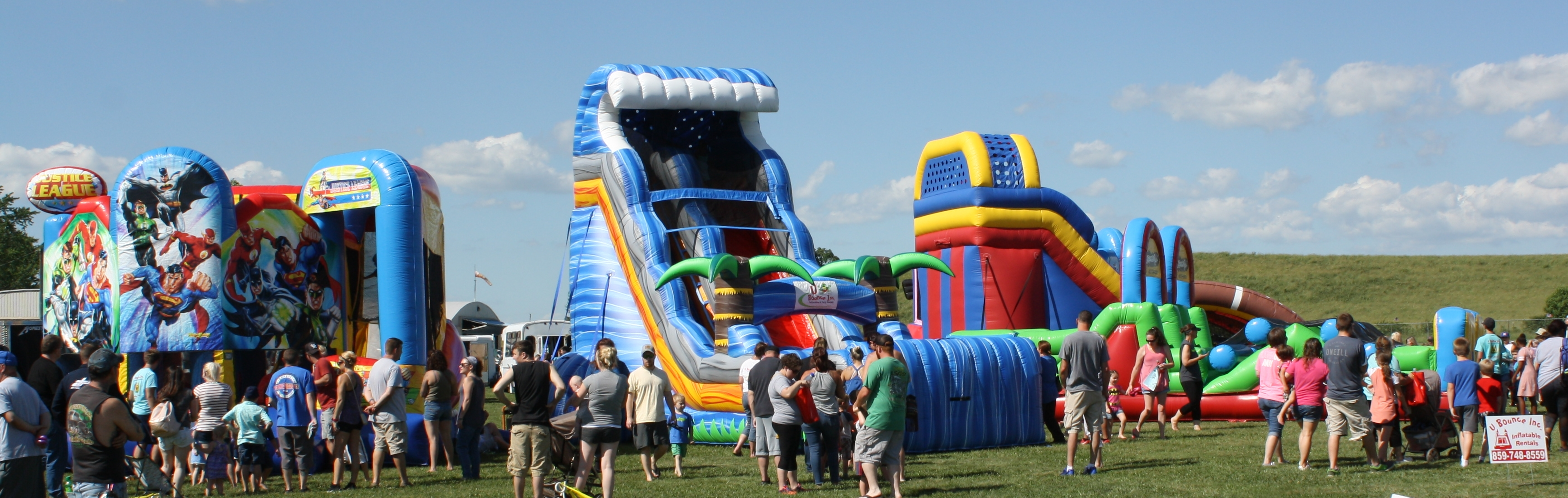 inflatable bounce houses, obstacle courses, water slides, and games in Danville, KY
