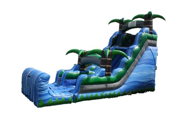 18ft Blue Crush Dry Slide