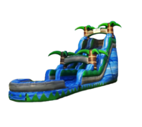 18ft Blue Crush Water Slide with Pool