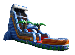 22ft Tropical Tsunami Water Slide with Pool