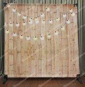 Lighted Wood Backdrop