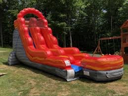 18' Fire Marble Water Slide or Dry Slide