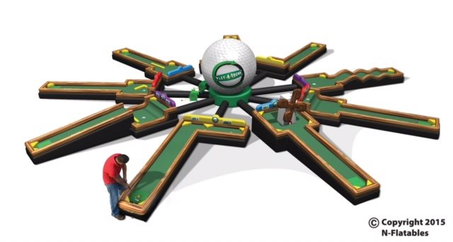 Inflatable Mini Golf - 9 Hole
