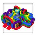 28 X 29 Wacky World Giant Inflatable Maze Adventure (Requires 2 Blowers)