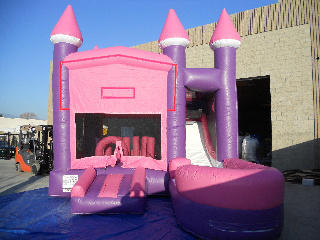 Pink and Purple Water Slide 7 in 1 Combo can be used WET or DRY (Requires 2 Blowers)