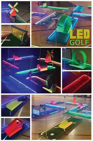 9 - Hole L.E.D Glow Mini Golf - Portable Mini Golf IT GLOWS
