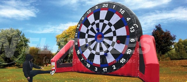 Deluxe Giant 18' Soccer Darts - With Ball Retrieval Pole
