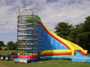 Spider Mountain Climb and Slide with 3 Station Euro Bungee-- 3 Hour Rental