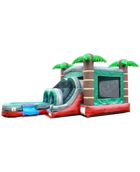 13 X 26 Tropical Water Slide Combo w Pool