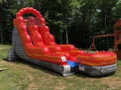 18 Ft Fire Marble Water Slide or Dry Slide