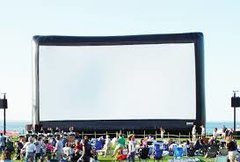 Drive in Movie Screen Complete Set Up W/ Technician 30 X 17