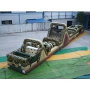 95 Ft Camouflage Mega 3 Piece Obstacle Course (Requires 3 Blowers)