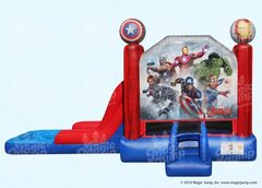 15 X 28 Marvell Avengers 4 in 1 Waterslide Combo with Pool