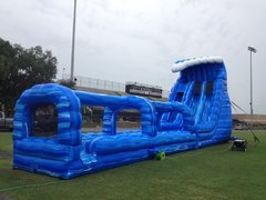 24' Blue Crush 2 Lane Water Slide with Slip and Slide